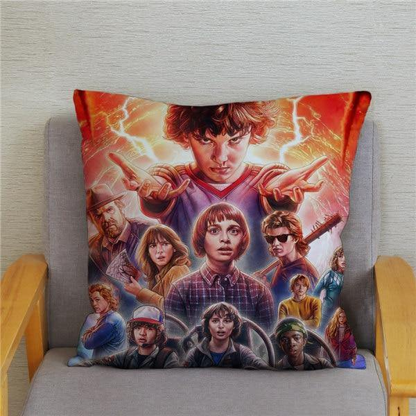 Coussin Stranger Things groupe personnages
