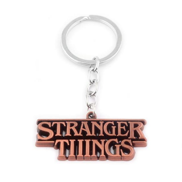 Porte-clé Stranger Things logo bronze