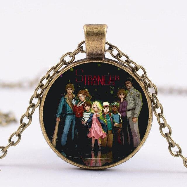 Collier Stranger Things héros dessin