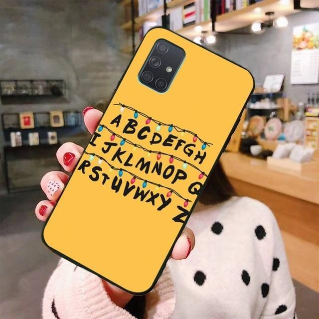Coque Samsung Stranger Things alphabet