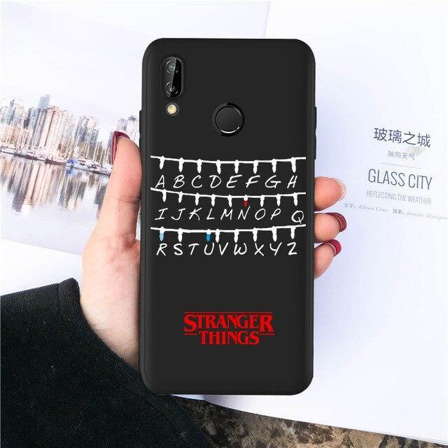Coque Huawei Stranger Things alphabet