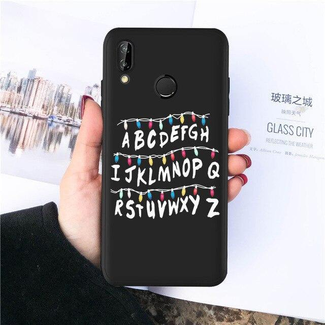 Coque Huawei Stranger Things guirlande alphabet