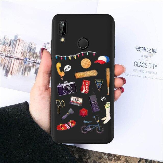 Coque Huawei Stranger Things objets