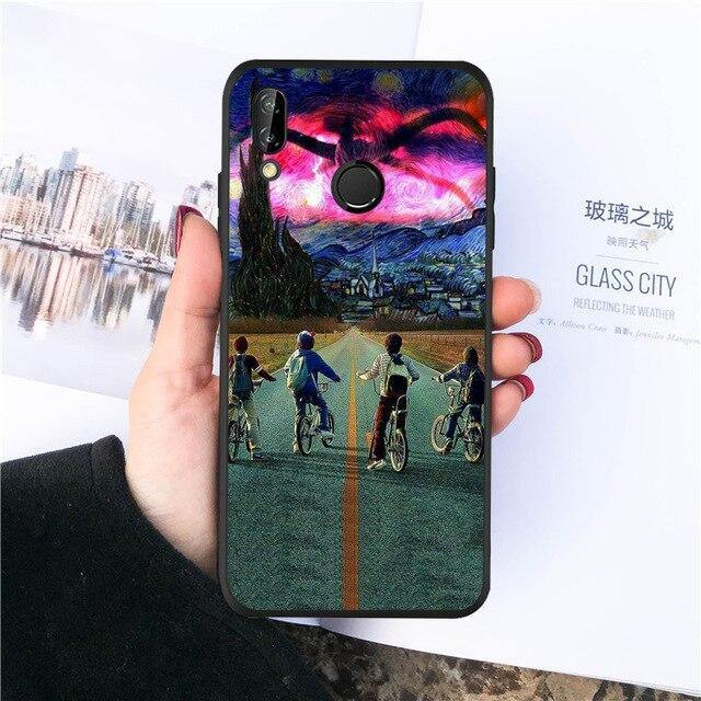 Coque Huawei Stranger Things Bike Road
