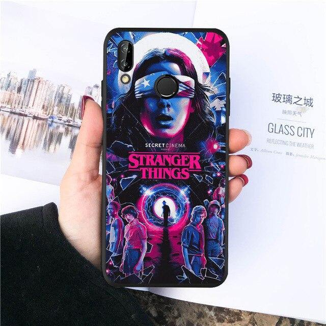 Coque Huawei Stranger Things personnages couleur