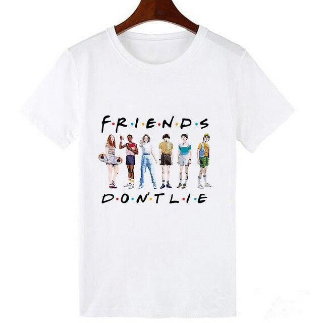 T-shirt Stranger Things Friends Don't Lie Parti