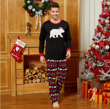 Load image into Gallery viewer, Mosaic Family Matching Bear Christmas Pajamas Sets (Flame Resistant)