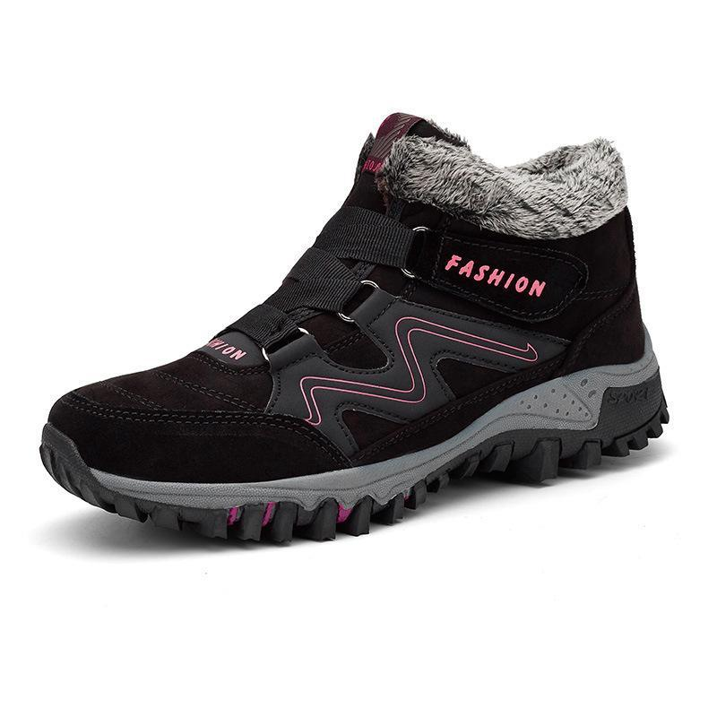 Warm Off-Road Boots With Velcro For Winter
