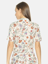 Load image into Gallery viewer, Floral Cotton Crop Shirt | NR