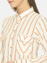 Load image into Gallery viewer, Striped kurta Dress With collar & pockets | NR