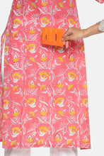 Load image into Gallery viewer, Peach Floral Festive Kurta Set | NR