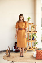 Load image into Gallery viewer, Mustard Office Wear Midi Dress |  NR