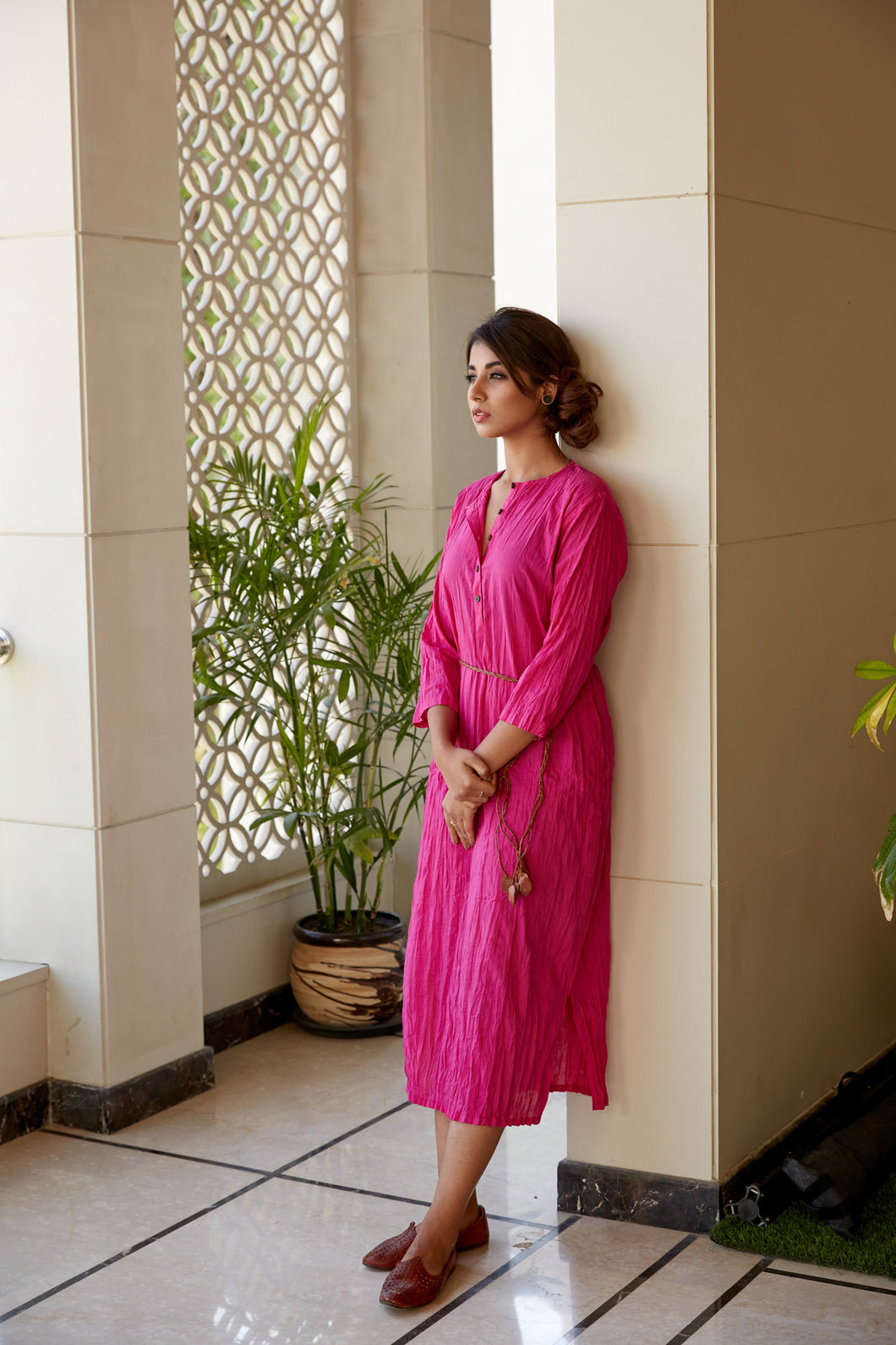 Pink Kurta Tunic Dress | NR