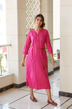 Load image into Gallery viewer, Pink Cotton Kurta Tunic | NR