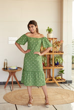 Load image into Gallery viewer, Polka Green Maxi Dress | NR