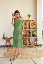 Load image into Gallery viewer, Polka Maxi Dress with Statement Sleeves | NR