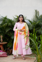 Load image into Gallery viewer, Pink Anarkali With Leheriya Dupatta | NR