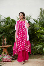 Load image into Gallery viewer, Jaipur Leheriya Set Made with Satin Blend & Chanderi  | NR