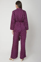 Load image into Gallery viewer, Purple Bandhani print Pantsuit  | NR
