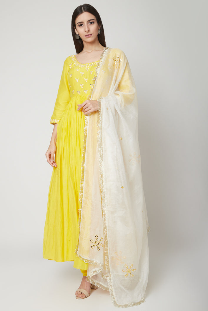 Yellow Anarkali Set | NR