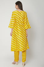 Load image into Gallery viewer,  Yellow Two Piece Leheriya Kurta Set | NR