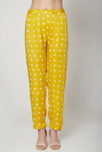 Load image into Gallery viewer, Yellow leheriya kurta & Bandhani Pants Set | NR