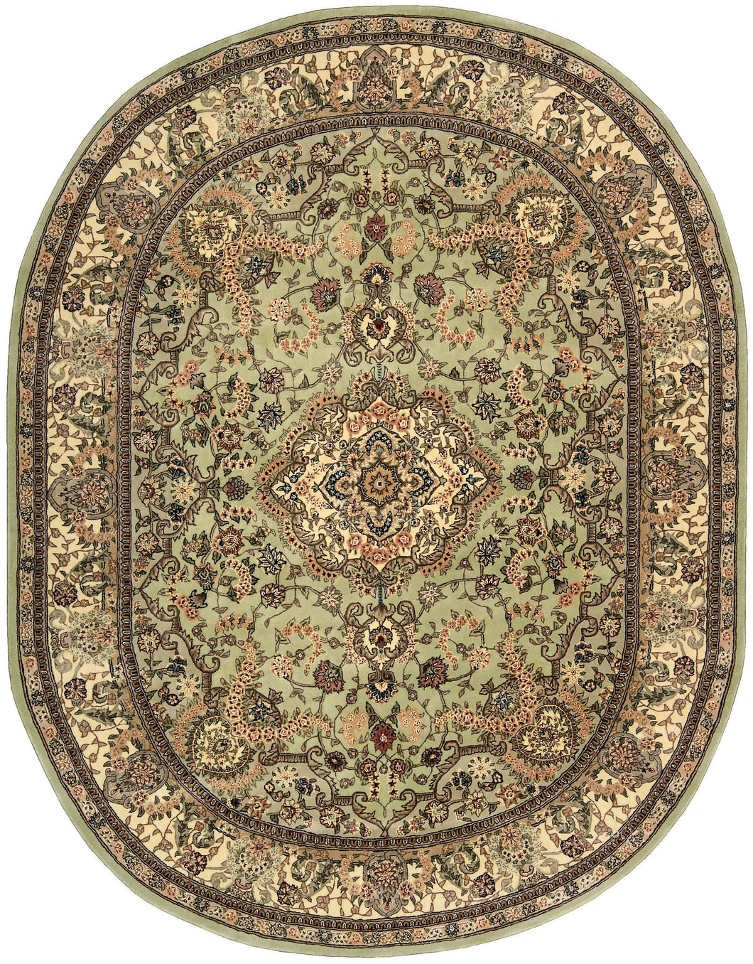 Nourison Nourison 2000 Light Green Area Rug 2005 LTG