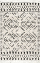 Load image into Gallery viewer, nuLOOM Vasiliki Moroccan Tribal Tassel Off Area Rug