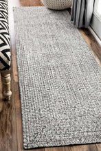 Load image into Gallery viewer, nuLOOM Salt and Pepper Braided Lefebvre HJFV01C Area Rug