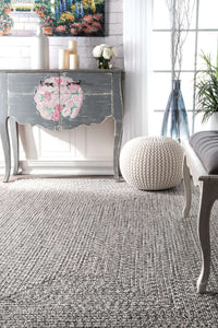 nuLOOM Salt and Pepper Braided Lefebvre HJFV01C Area Rug
