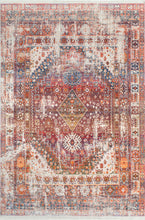 Load image into Gallery viewer, nuLOOM Farley Medallion Fringe Rust Area Rug