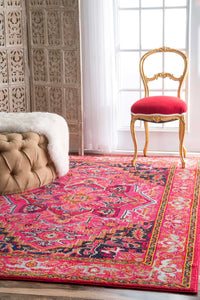 nuLOOM Machine Made Cordie Violet Pink Area Rug