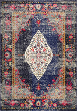 Load image into Gallery viewer, nuLOOM Vintage Medallion Veronica Navy Area Rug