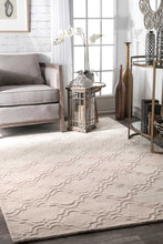 Load image into Gallery viewer, nuLOOM Hand Tufted Wilhelmina Cream Area Rug