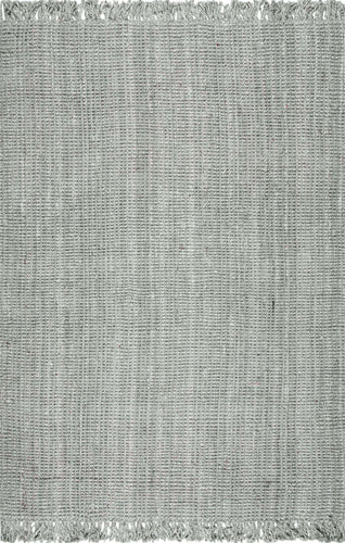nuLOOM Grey Hand Woven Chunky Loop Jute NCCL01G Area Rug