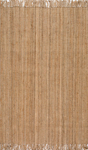 nuLOOM Natural Hand Woven Chunky Loop Jute NCCL01 Area Rug