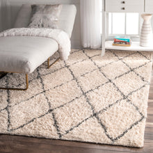 Load image into Gallery viewer, nuLOOM Sheba Cotton Diamond Shaggy RFEK01A Area Rug