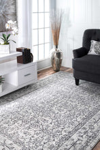 Load image into Gallery viewer, nuLOOM Vintage Waddell Grey Area Rug