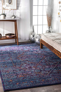 nuLOOM Vintage Medallion Rima Purple Area Rug