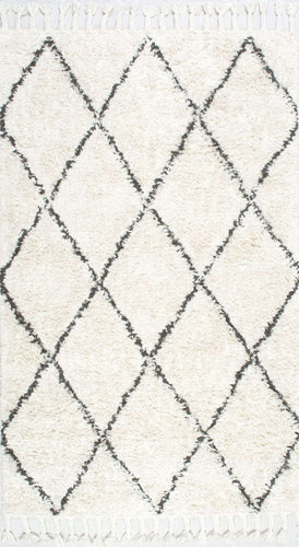 nuLOOM Natural Hand Knotted Fez Shag SPRE14A Area Rug