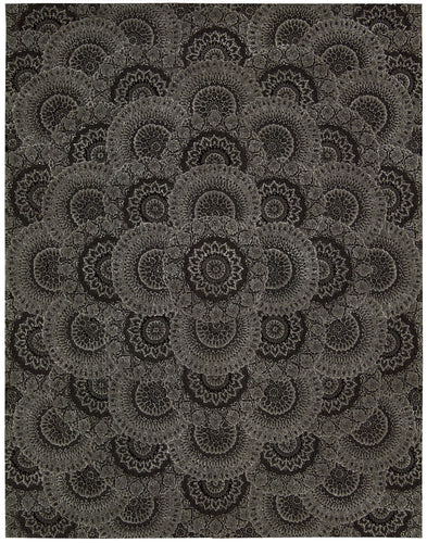 Nourison 2000 Black Grey Area Rug 2335 BLKGY
