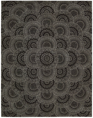 Jaipur Rugs Modern Tribal Pattern Brown Wool Area Rug AZT01 (Rectangle)