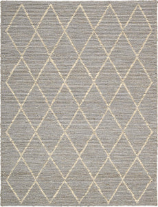 Joseph Abboud Organic Tudor Pewter Area Rug By Nourison OGT01 PEWTR