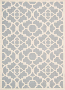 Waverly Sun & Shade Lovely Lattice Grey Area Rug By Nourison SND04 GRY