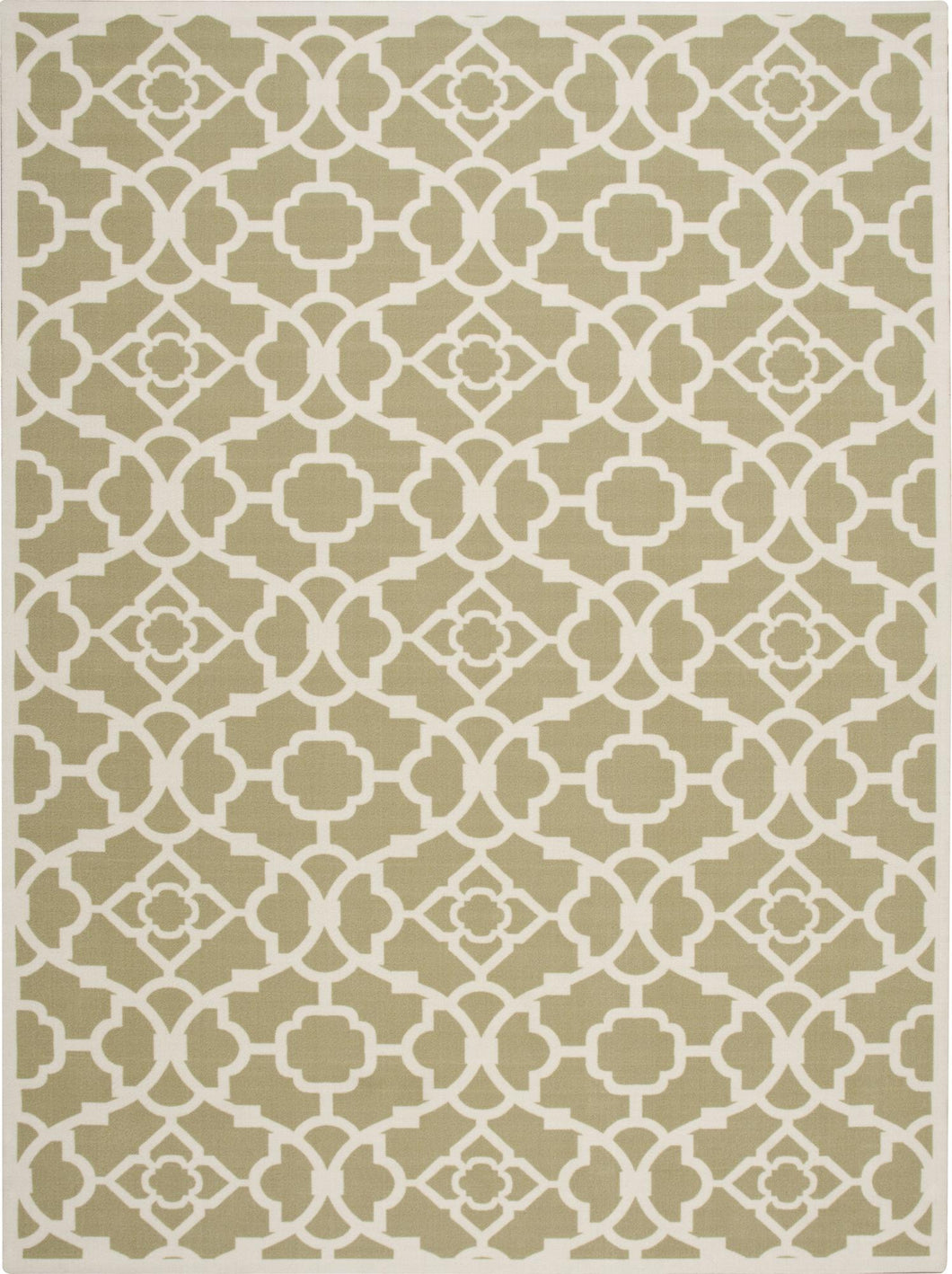 Waverly Sun & Shade Lovely Lattice Green Area Rug By Nourison SND04 GRE