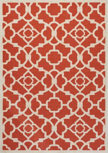 Waverly Sun & Shade Lovely Lattice Sienna Area Rug By Nourison SND04 SIENN
