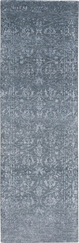 Nourison Silk Shadows Blue Stone Area Rug SHA15 BLSTN