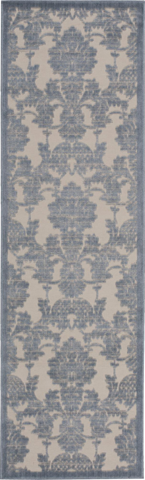 Nourison Graphic Illusions Ivory/Light Blue Area Rug GIL03 IVLTB