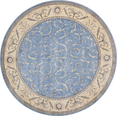 Nourison Somerset Light Blue Area Rug ST02 LTBLU
