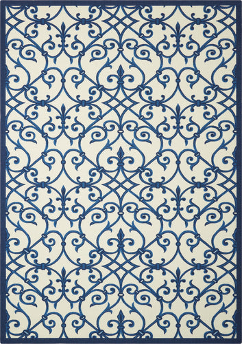 Nourison Home & Garden Blue Area Rug RS093 BLUE